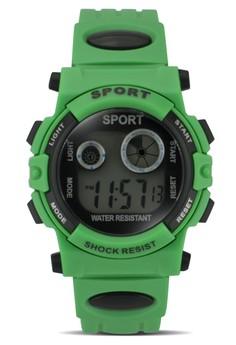 Sport Shock Resist Womens PVC Strap Watch SWR-805-2