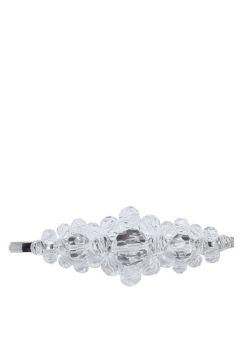 Rubi white Sparkle Cherish Beaded Hair Slide 934D2ACEB103F4GS_1