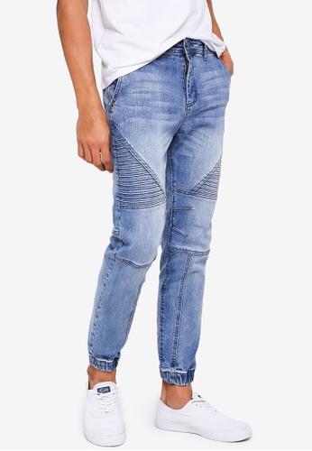 Cotton On 藍色 Slim Denim Joggers 26069AA84E2D28GS_1