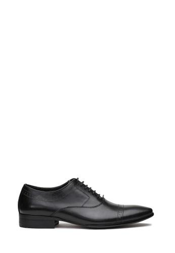 Kings Collection black Vicente Derbies Shoes 59E5ESHA32768DGS_1