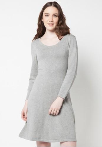 Noir Sur Blanc grey Ladies Long Cardigan NO321AA34RQRID_1