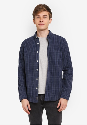 Abercrombie & Fitch blue Oxford Shirt AB423AA0SJUAMY_1