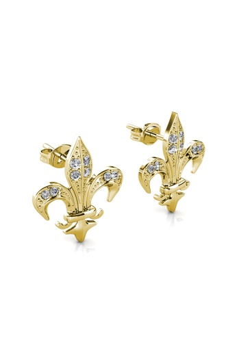 Her Jewellery silver Medieval Earrings (Yellow Gold) - Made with premium grade crystals from Austria 3DC60ACEC576EEGS_1