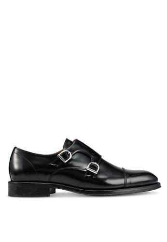 MANGO Man black Leather Monk-Strap Shoes 94F75SH0310090GS_1