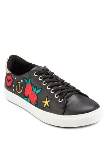 Clarissa 刺繡徽章京站 esprit繫帶休閒鞋, 女鞋, 鞋