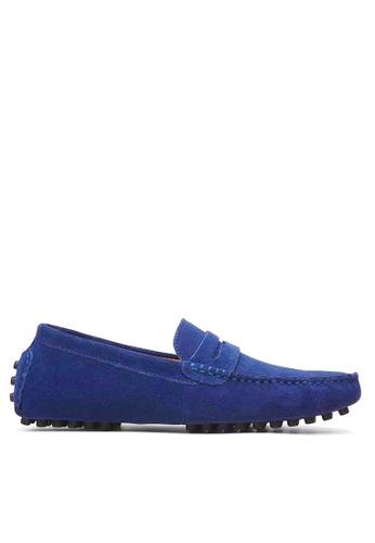 Twenty Eight Shoes blue Cow Suede Driving Shoes VM2088 1F804SHAC9C33FGS_1