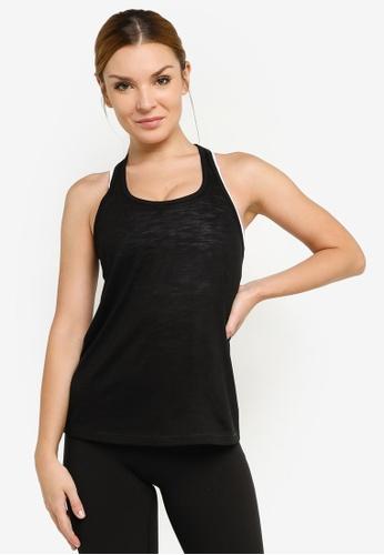 Lorna Jane black Slouchy Gym Tank Top 86C5EAA8660670GS_1