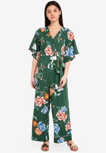 Cotton On green Woven Kassie Kimono Sleeve Jumpsuit 9C188AAF231106GS_1