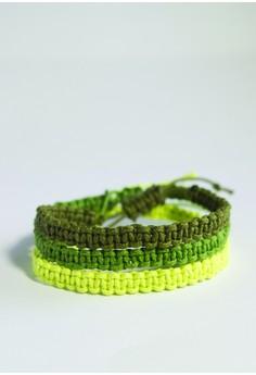 Triple Stack Macrame Bracelet