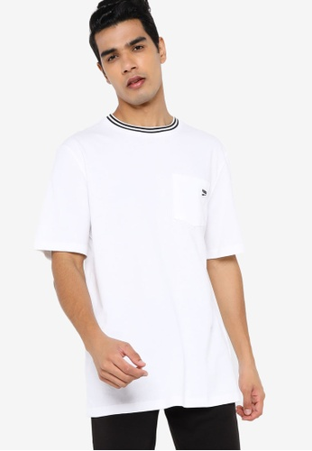 PUMA white Downtown Pocket Men's Tee 522DCAAA73DC3BGS_1