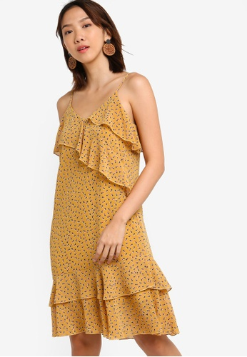Something Borrowed 黃色 Ruffles Overlap Dress D6D2FAA4282F62GS_1