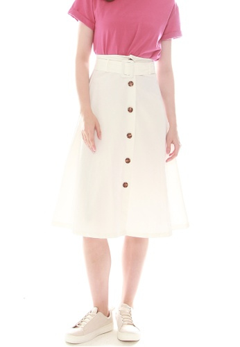 1187d6ac2a42 Buy JOVET Button Front Midi Skirt Online on ZALORA Singapore