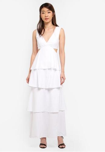 Bardot white Cut Out Tier Dress BA332AA0ST9UMY_1