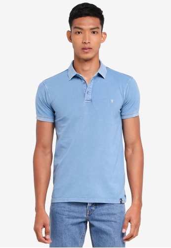 Indicode Jeans blue Abbortsford Washed Polo Shirt 9C347AA57D0FFAGS_1