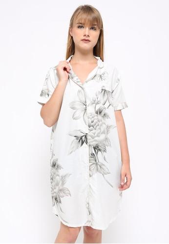 madeleine white Madeleine's Jessamine Brown Sleepshirt 799B4AA3FCDC11GS_1
