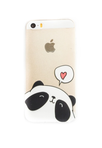 Fancy Cellphone Cases multi Panda Heart Soft Transparent Case for iPhone 5/5s/SE FA644AC45XXMPH_1