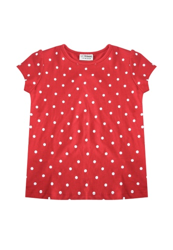 LC Waikiki red Girl's Printed Cotton T-Shirt 6F4C1KA4E39222GS_1