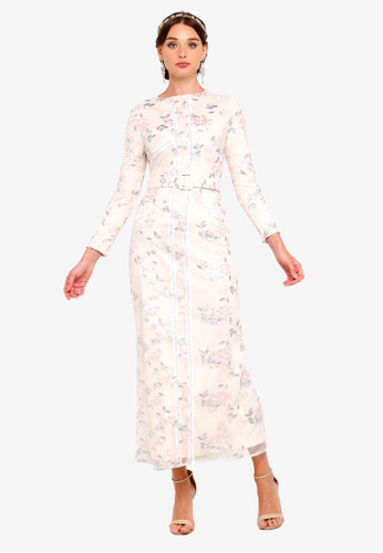 297cfd3a0b78 Buy Zalia Embroidered Floral Column Dress Online on ZALORA Singapore