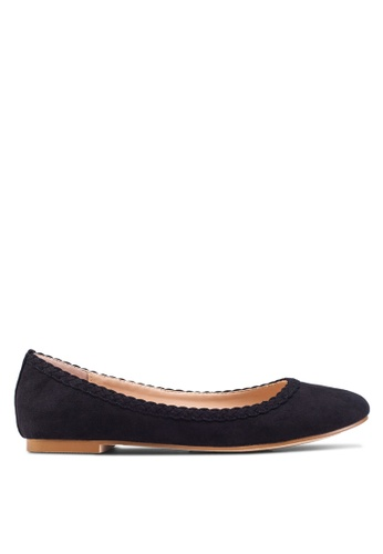 ZALORA black Basic Weaved Detail Ballerinas FA0B6SH62BFE70GS_1