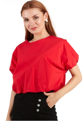 What To Wear red Puffy Crop Top in Red D66E9AAC5DC19BGS_1