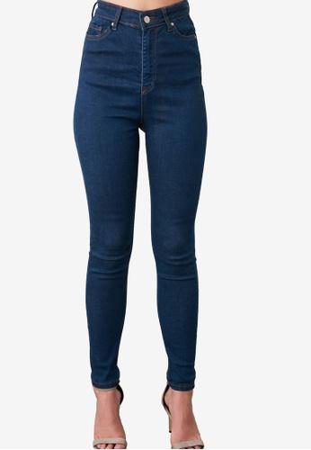 Trendyol navy High Waist Skinny Jeans 98FA3AA9A8FB25GS_1