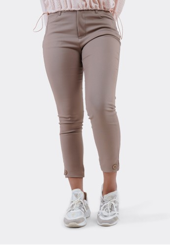 FLIES beige FLIES Celana Bahan Trousers I31000007F Khaki 71AE8AA4A60608GS_1