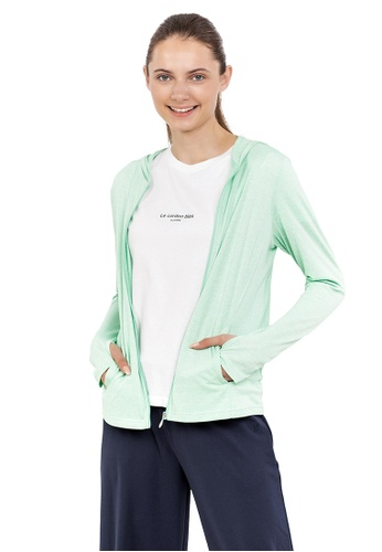 Huitieme green HUITIÈME DRY TOUCH UV CASUAL MINT PARKER. 45AE2AA2FEAB2BGS_1
