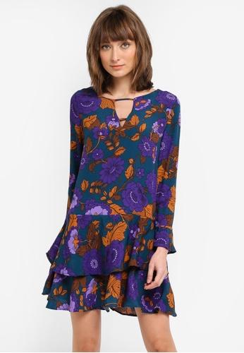 Mango green Ruffles Slit Dress MA193AA0T1CYMY_1