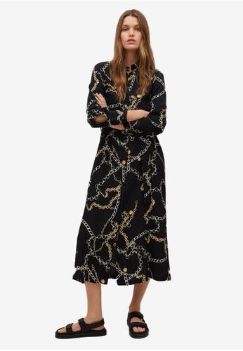 Mango black Chain Print Dress 149AAAAE4AA97AGS_1