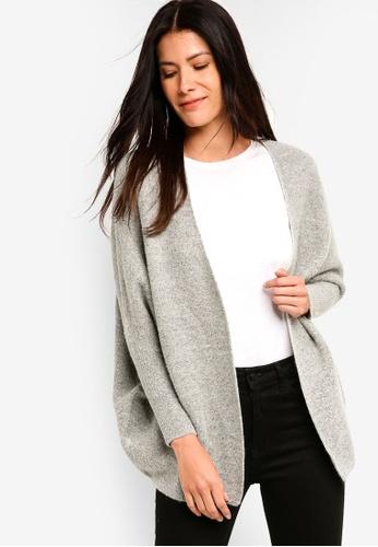 ZALORA grey Textured Cardigan 3FF62AA5A4352AGS_1
