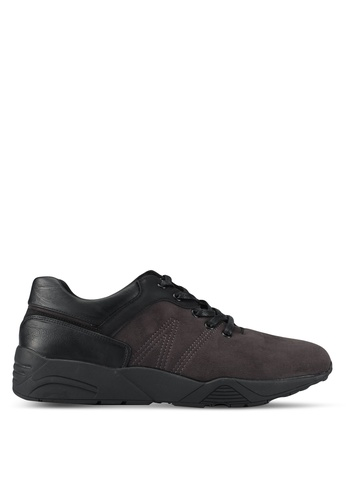ZALORA black Mixed Materials Trainers D65CFSH6DBEB84GS_1