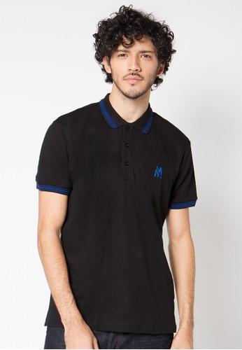 Black Striped Collar 01 Polo