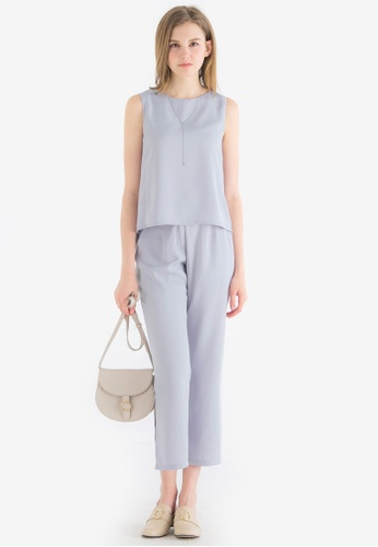 Kodz grey Two-Piece Tank Top and Trousers Set 27764AAE8257BCGS_1