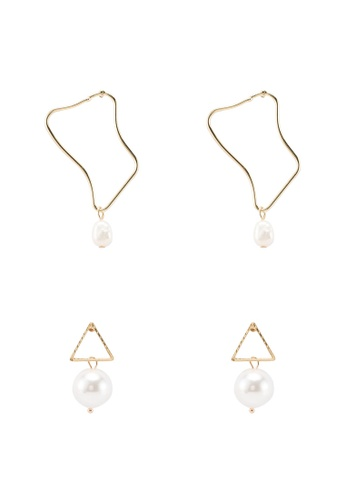 Red's Revenge white 2-In-1 All About Abstract Dangle Earrings Set E3BD3AC53161FAGS_1