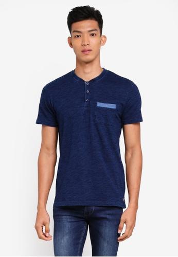 ESPRIT 海軍藍色 短袖T恤 F5B63AAF211EF8GS_1