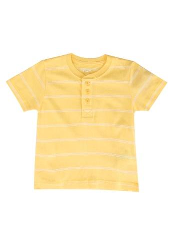 FOX Kids & Baby yellow Henley T-Shirt 588EEKA2C592C1GS_1