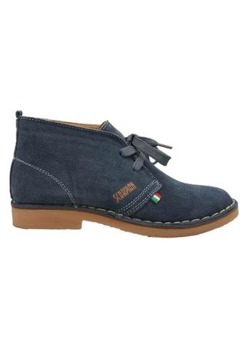 midzone grey Suede Leather Sneaker MI949SH35XBWMY_1