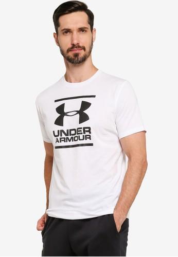 Under Armour white UA GL Foundation Short Sleeve Tee C6D76AABF78687GS_1