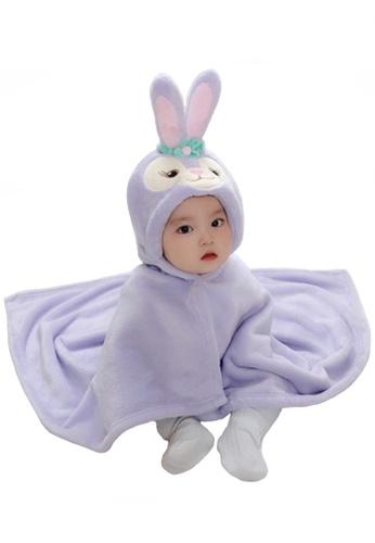 Kiddies Crew purple and multi StellaLou Bunny Cartoon Hoodie Boys Girls Baby Kids Cape Towel/ Blanket/ Jacket B0528KC86E2F58GS_1