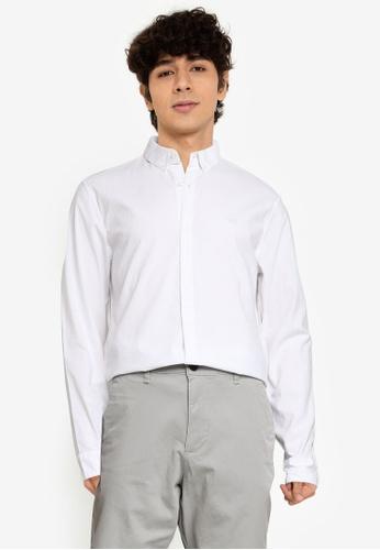 Hollister white Fit Shirt 44BE1AA8DF7E0DGS_1