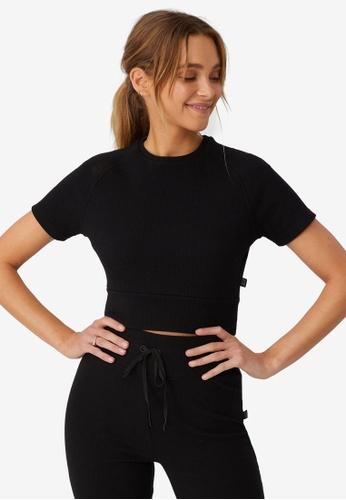 Cotton On Body black Lifestyle Rib T-Shirt 14E38AAA5CD3B3GS_1