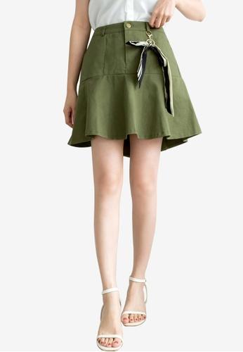 Tokichoi green Ribboned Detailed Pleated Skirt 6149AAA12B27B2GS_1