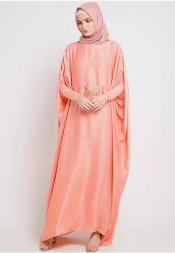 BellyBee orange Kiara Kaftan Peach 8D62FAAFF00EB7GS_1