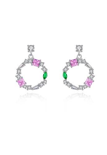 SUNRAIS silver High quality Silver S925 silver round earrings A696CAC4C967E8GS_1