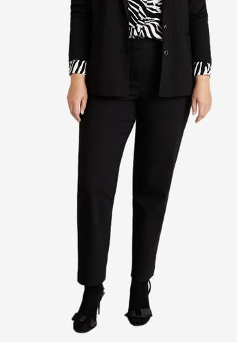 379923d471 Violeta by MANGO black Plus Size Straight Suit Trousers 70EA4AA20A9463GS 1