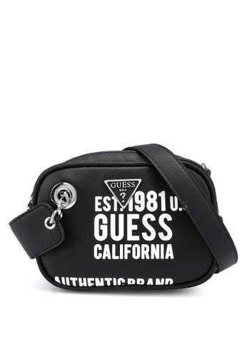 Guess black Manhattan Mini Crossbody Bag C692AAC64FB453GS_1