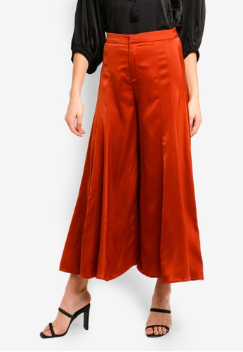 bYSI brown Classic Flare Wideleg Trousers EA3FAAAD1D0355GS_1