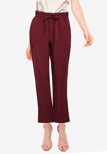 Vero Moda red Theressa High Waist Paperbag Pants 909EDAAE6C2718GS_1