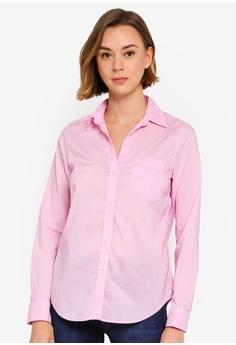 d554d68f GAP pink Fitted Boyfriend Shirt 22F2AAA0CB5DF1GS_1