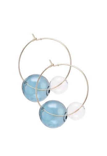 Saturation multi Glass Bubble Hoop Earrings 11A24ACFC58BBEGS_1